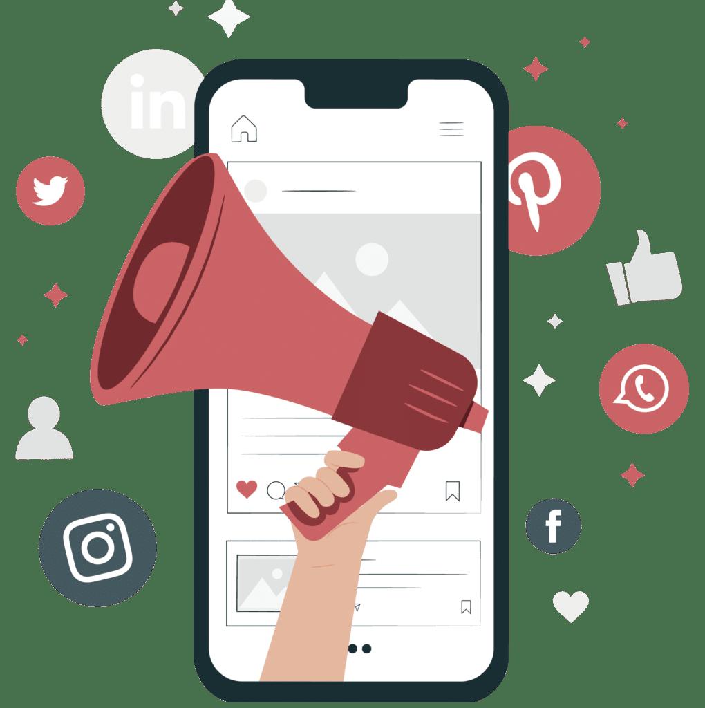 Smartphone com redes sociais
